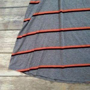 Merona Skirts - New Striped Gray Maxi Skirt